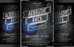 摇滚音乐之夜活动传单模板 Rock Night Flyer Template