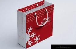 购物袋纸袋设计图展示样机06 Shopping Bag Mockup