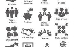 商业管理图标。32包