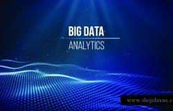 大数据可视化。背景3D大数据连接背景。网络技术,人工智能技术,有线网络,未来线框,数据可视化。矢量图人工智能。