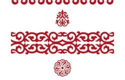 中亚的传统装饰品,用来装饰衣服和蒙古包。游牧装饰品