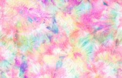 彩色领带印花