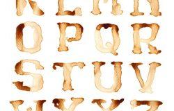 咖啡古体字字母表