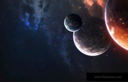 深空星球令人敬畏的科幻壁纸宇宙景观。这幅图片的元素由美国宇航局提供。