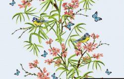 彩色手绘花卉