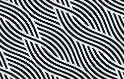 矢量无缝模式现代时尚纹理与波浪条纹。几何抽象背景
