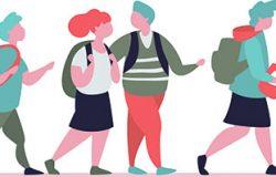 群体性小学生离校上学