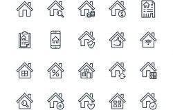 房地产平行线图标设置。