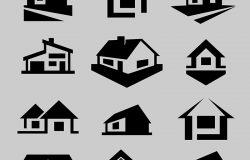 矢量房屋轮廓图标