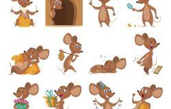 卡通老鼠。有趣的