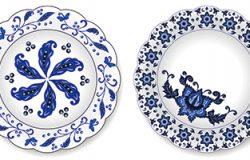 一套青瓷盘子。