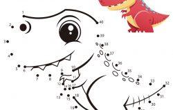教育数字游戏。点对点游戏。恐龙漫画