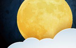 月亮云。甜蜜的梦壁纸。