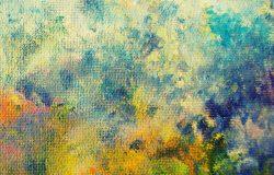 油画在画布上的彩色背景。这一层的油漆。