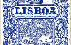 传统瓷砖,zulejos,里斯本,葡萄牙,Lisboa。葡萄牙靛蓝瓷砖地板装饰收藏华丽,彩色彩绘,锡釉,瓷砖,古董插图背景图像。