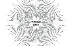 太阳光线的直线绘制。复古风格的形象。为您的项目设计元素。时髦的风格。爆裂的光线。从中心物体或光源发出的光线。