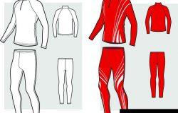 滑雪比赛服素描