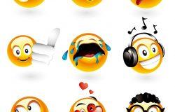 九组不同表情的笑脸-访问我的投资组合,从本系列中找到更多内容。