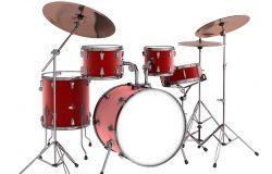 Drum kit. Isolated