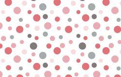 复古粉红灰波尔卡点背景图案