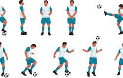 足球运动员组色