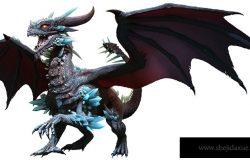 Blue Dragon 3D illustration