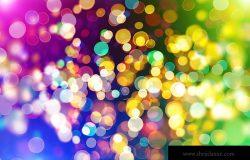 节日优雅抽象背景与波基灯和星星特克斯图