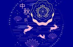 中秋节问候模板,中文单词表示中秋节快乐