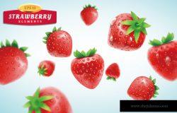 Strawberry set detailed
