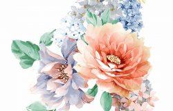 五颜六色的花叶艺术设计
