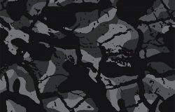 伪装图案背景无缝矢量插图。军用时尚抽象几何无缝伪装图案。