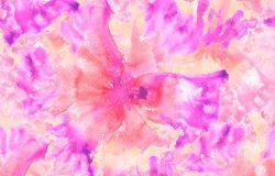 领带,染料,纺织品,无缝线。模仿Shibori Batik。印花丝绸,棉布,棉织物的水彩花卉图案。抽象水彩图案