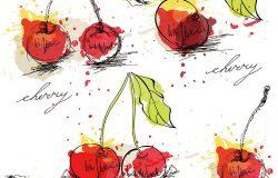 天衣无缝的樱桃背景