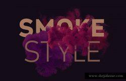 PS 彩色烟雾特效扩展包 Smoke Toolkit Extra(烟雾形状、笔刷、背景纹理)