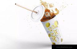 苏打冷饮饮料杯外观设计样机模板 Soda Cup Mockup