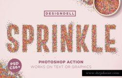 彩色粉末颗粒感PS动作 Sprinkle Photoshop Actio