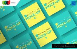 方形企业名片卡片样机v1 Square – Business Card Mock-Up V1