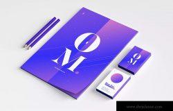 品牌VI设计案例预览办公用品套装样机