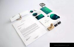 企业VI视觉设计效果图办公用品样机模板 Stationery Mockup