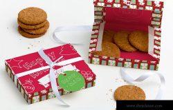 甜品外带包装盒外观设计样机模板