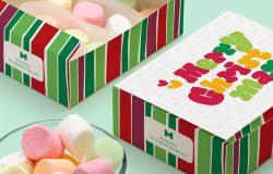 甜点烘焙糕点包装盒设计样机04 Sweet Box Mockup