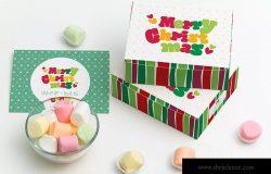 甜品包装礼盒设计图预览样机05 Sweet Box Mockup