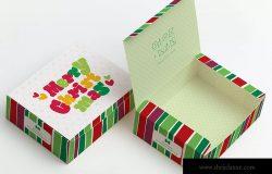 甜品糕点包装盒外观设计效果图样机06 Sweet Box Mockup