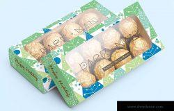 巧克力甜点包装盒外观设计样机