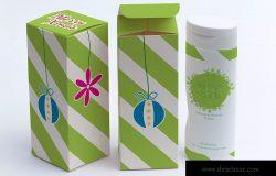 长方体产品包装盒/礼品盒设计效果图样机01 Tall Gift Box Mockup