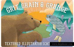 沙砾,散点&复杂线条AI笔刷 Grit, Grunge & Grain Scatter Brushes