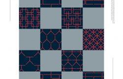 韩文几何图案背景设计psd素材