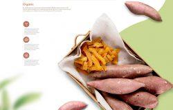番薯地瓜农产品宣传海报设计韩国素材