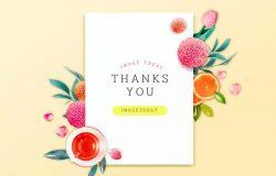 妇女节/母亲节感恩主题海报贺卡psd素材
