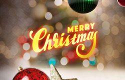 圣诞快乐主题多用途海报psd模板